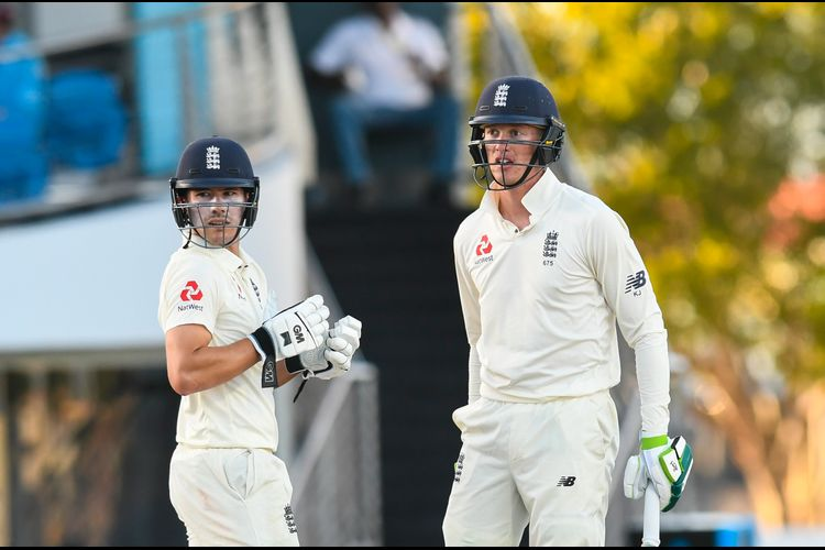 Rory Burns (L) and Keaton Jennings (R) look to consolidate England's position in the Test