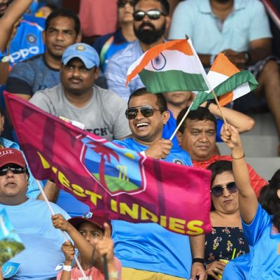 India West Indies fans flags