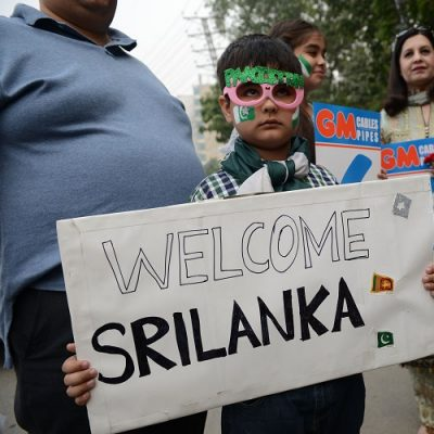 Pakistan Sri Lanka fans welcome