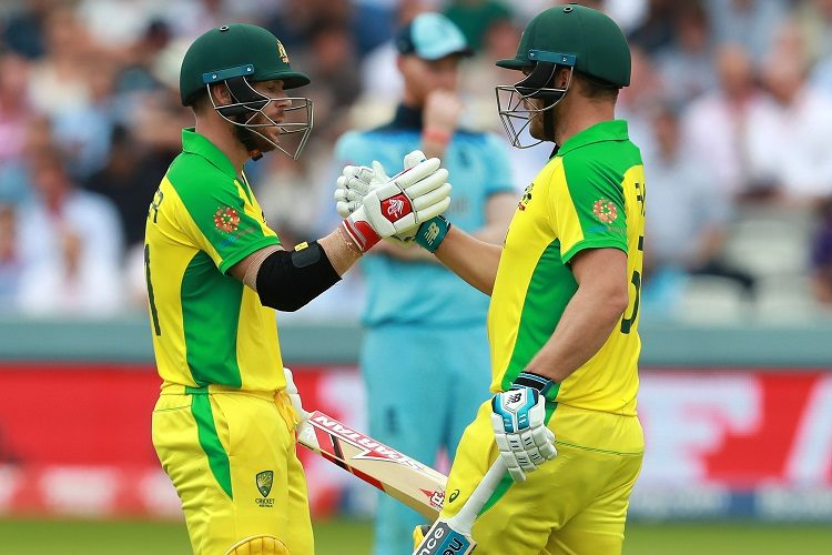 Aaron Finch David Warner Australia