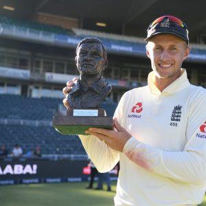 Joe Root England South Africa Basil D'Oliveira Trophy